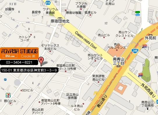 AOYAMA STUDIOS LOCATION MAP